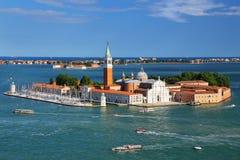 Luchtmening van San Giorgio Maggiore Island in Venetië, Italië Royalty-vrije Stock Foto's
