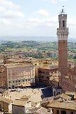 Luchtmening van Siena, Toscanië, Italië Stock Fotografie