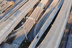 Luchtmening van snelweg Millwaukee, Wisconsin, de V.S. Stock Afbeeldingen