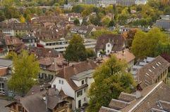 Luchtmening van stad van Bern zwitserland Stock Afbeeldingen