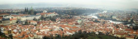 Luchtmening van stad van Praga Royalty-vrije Stock Foto