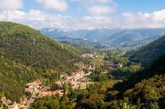 Luchtmening van stadsdorp dichtbij Terni in Umbrië, Italië royalty-vrije stock afbeelding