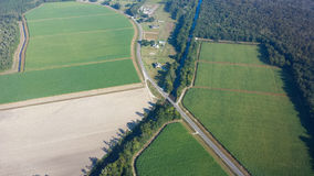 Luchtmening van Terrebonne-Parochie, Louisiane Stock Afbeelding