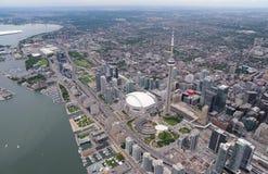 Luchtmening van Toronto van de binnenstad Royalty-vrije Stock Fotografie