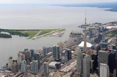 Luchtmening van Toronto van de binnenstad Royalty-vrije Stock Foto