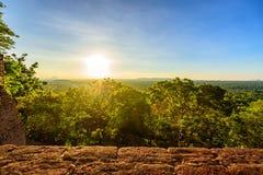 Luchtmening van tropisch bos van Sri Lanka royalty-vrije stock foto's