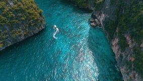 Luchtmening van tropisch paradijs stock videobeelden