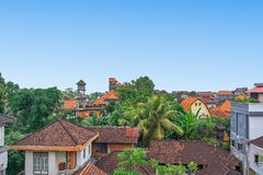 Luchtmening van Ubud-stad, het eiland van Bali Royalty-vrije Stock Foto