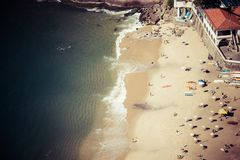 Luchtmening van Urca-strand  Royalty-vrije Stock Foto