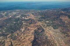 Luchtmening van Ventura County-kust & het Nationale Park van Kanaaleilanden stock afbeelding