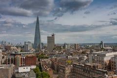 Luchtmening van 95 verhaalwolkenkrabber de Scherf in Londen Royalty-vrije Stock Foto