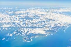 Luchtmening van vliegtuig van miyazaki kyushu Japan royalty-vrije stock foto