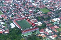 Luchtmening van voetbalstadion Royalty-vrije Stock Foto's