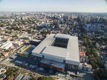 Luchtmening van voetbalstadion van de paranaense atletische club Baixada van arenada curitiba parana Juli 2017 stock afbeelding