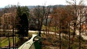 Luchtmening van Vrnjacka Banja stock videobeelden