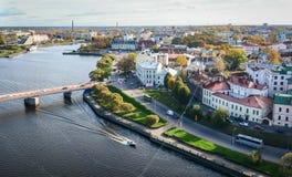 Luchtmening van Vyborg, Rusland Royalty-vrije Stock Foto's