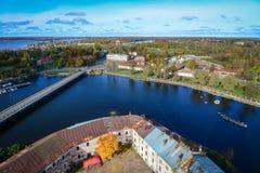 Luchtmening van Vyborg, Rusland Royalty-vrije Stock Foto