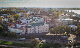 Luchtmening van Vyborg, Rusland Royalty-vrije Stock Afbeeldingen