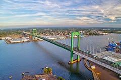 Luchtmening van Walt Whitman Bridge Philadelphia Royalty-vrije Stock Fotografie