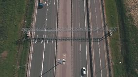 Luchtmening van weg in Rusland stock footage