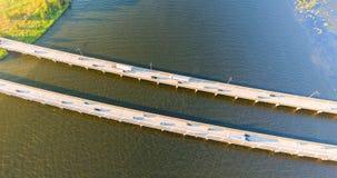 Luchtmening van 10 wegbrug tusen staten Stock Afbeelding