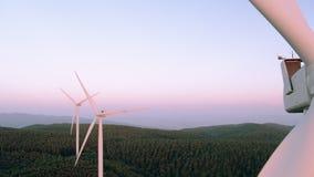 Luchtmening van windmolen stock videobeelden