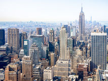 Luchtmening van wolkenkrabbers in New York Royalty-vrije Stock Foto