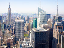 Luchtmening van wolkenkrabbers in New York Stock Afbeelding