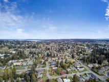 Luchtmening van woonwijk in Bellevue de stad in Royalty-vrije Stock Foto