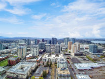 Luchtmening van woonwijk in Bellevue de stad in Stock Afbeelding