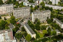 Luchtmening van Wroclaw-stad in Polen Stock Foto's