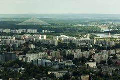 Luchtmening van Wroclaw-stad in Polen Royalty-vrije Stock Afbeelding
