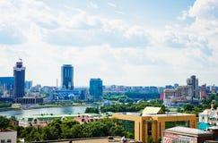 Luchtmening van Yekaterinburg op 26 Juni, 2013 Royalty-vrije Stock Afbeeldingen
