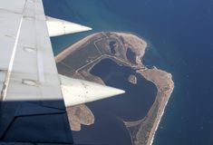 Luchtmening van Zakynthos Stock Afbeelding