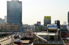 Luchtmeningscityscape van Saigon-stad Royalty-vrije Stock Afbeeldingen