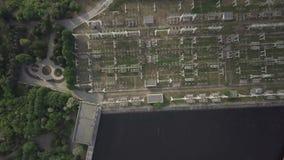 Luchtmeningselektrische centrale, transformatiepost stock video