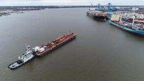 Luchtmeningssleepboot en het Bijtanken de PA van de Rivierphiladelphia van Aakdelaware Royalty-vrije Stock Afbeelding