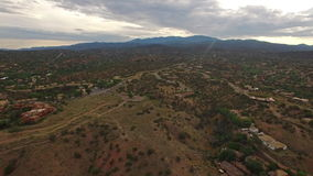 Luchtnew mexico Santa Fe stock video