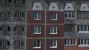 Luchtonderzoek Cityscape, oude architectuur stock footage
