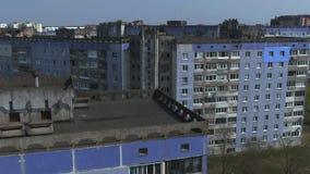Luchtonderzoek Cityscape, oude architectuur stock video