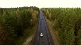 Luchtoverzicht van wegen