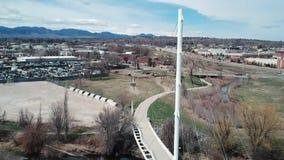 Luchtpan van brug, Westminster, Colorado stock video