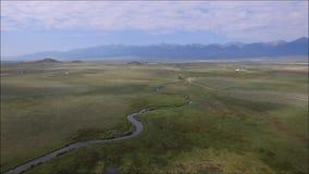 Luchtpan van gebieden in landelijk Colorado stock video