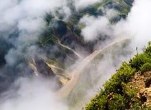 Luchtpanorama aan Colca-canion, Chivay, Arequipa, Peru stock foto