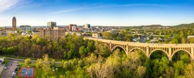 Luchtpanorama van Allentown, de horizon van Pennsylvania royalty-vrije stock afbeeldingen