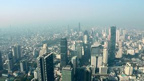 Luchtpanorama van Bangkok stock video