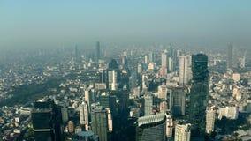 Luchtpanorama van Bangkok stock videobeelden
