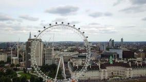 Luchtpanorama van centraal Londen, het UK stock video