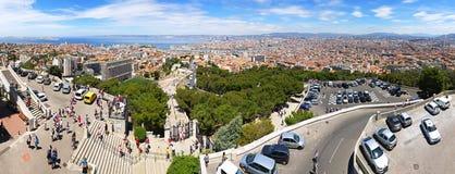 Luchtpanorama van de stad van Marseille, Frankrijk Royalty-vrije Stock Afbeelding