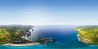 Luchtpanorama van het eiland Royalty-vrije Stock Foto